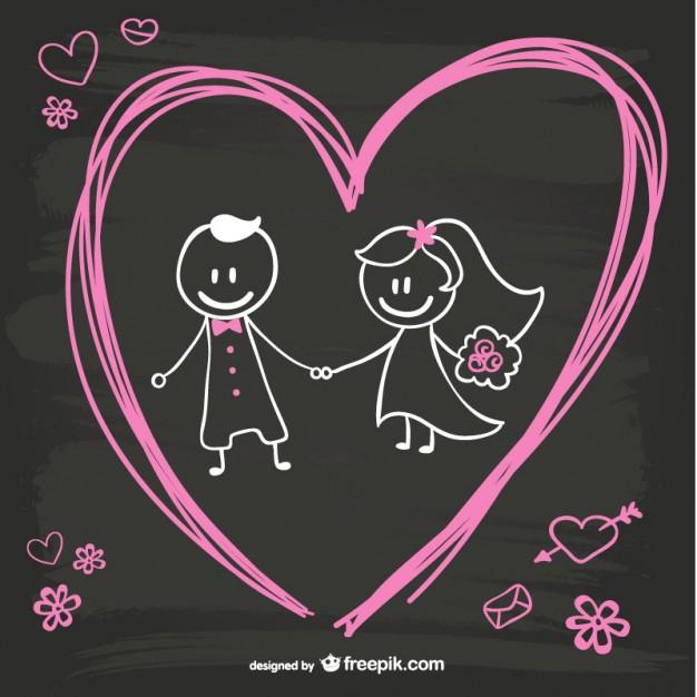 cartoon-bride-and-groom-blackboard-design_23-2147493877.jpg